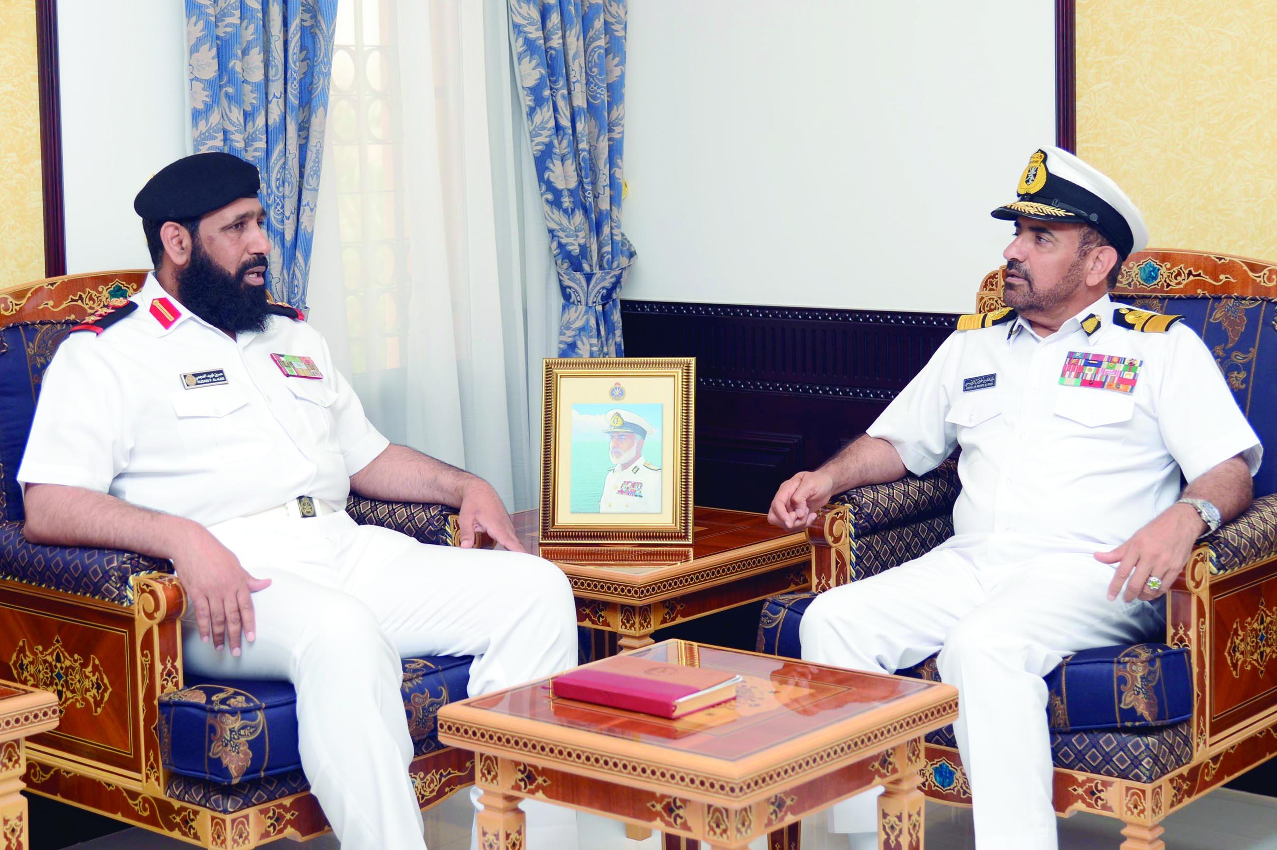 قائد البحرية يستقبل قائد قوةالواجب المختلطة 151 بالبحرين