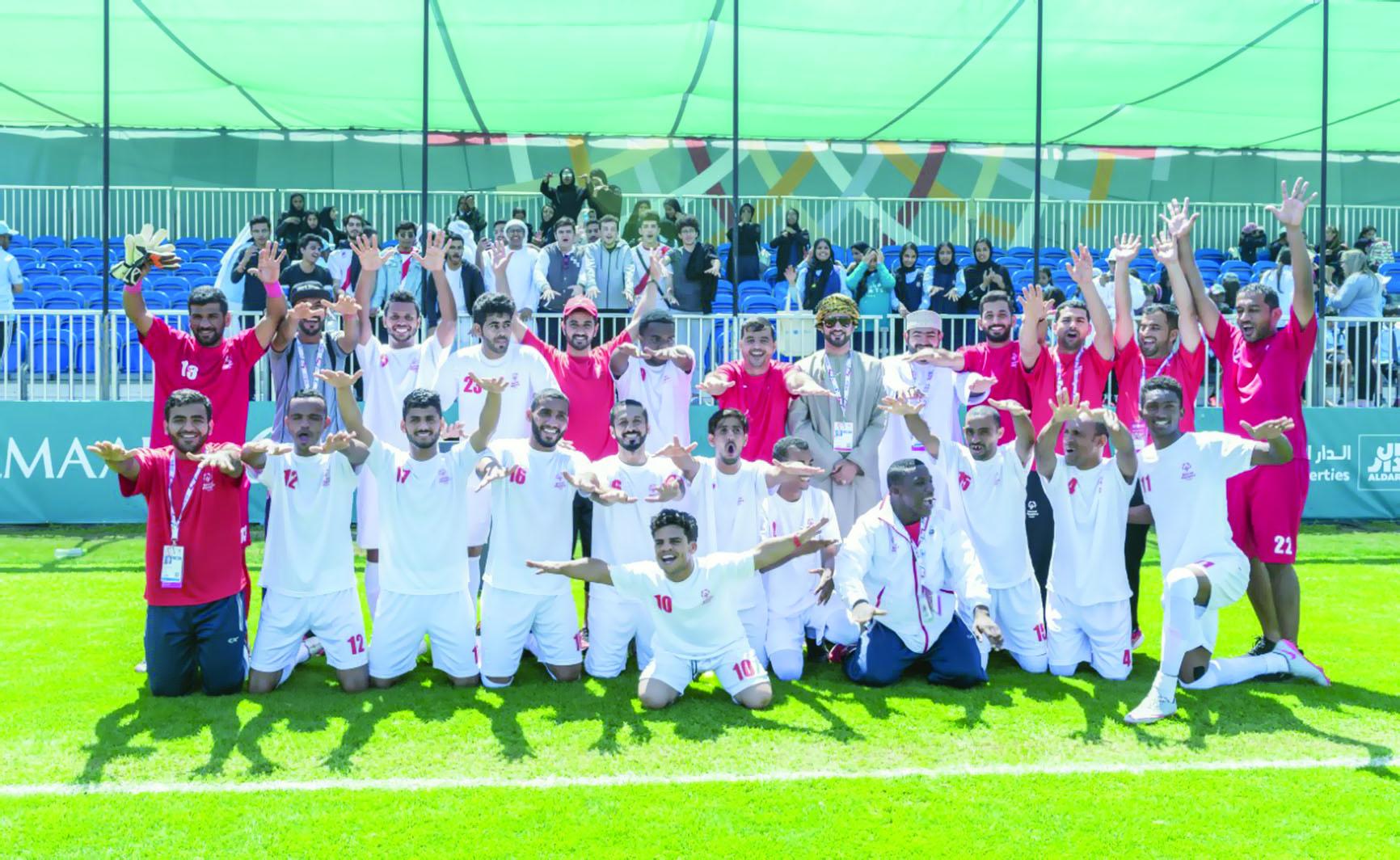 للألعاب العالمية للأولمبياد الخاص بأبوظبي26ميدالية متنوعة         للسلطنة بعد اليوم الرابع