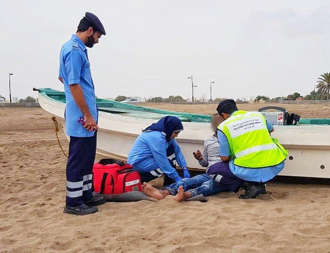 Unwell expat on Oman beach treated by PACDA