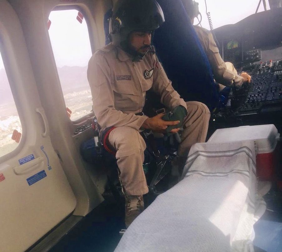 Royal Oman Police airlifts unwell hiker