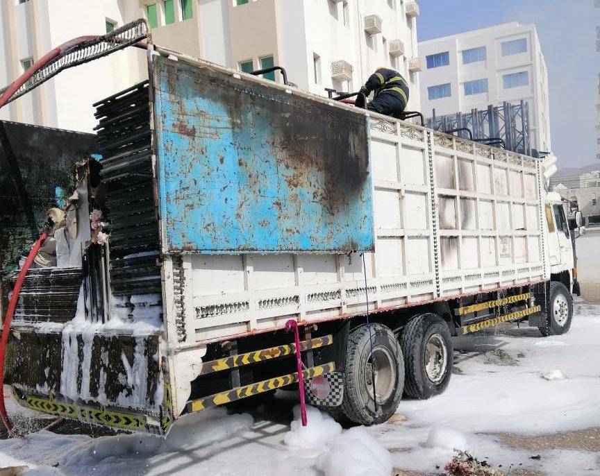 Fire breaks out in truck in Muscat