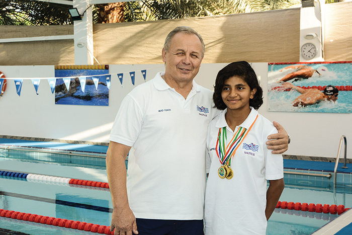 Swimming coach shaping budding talents in Oman