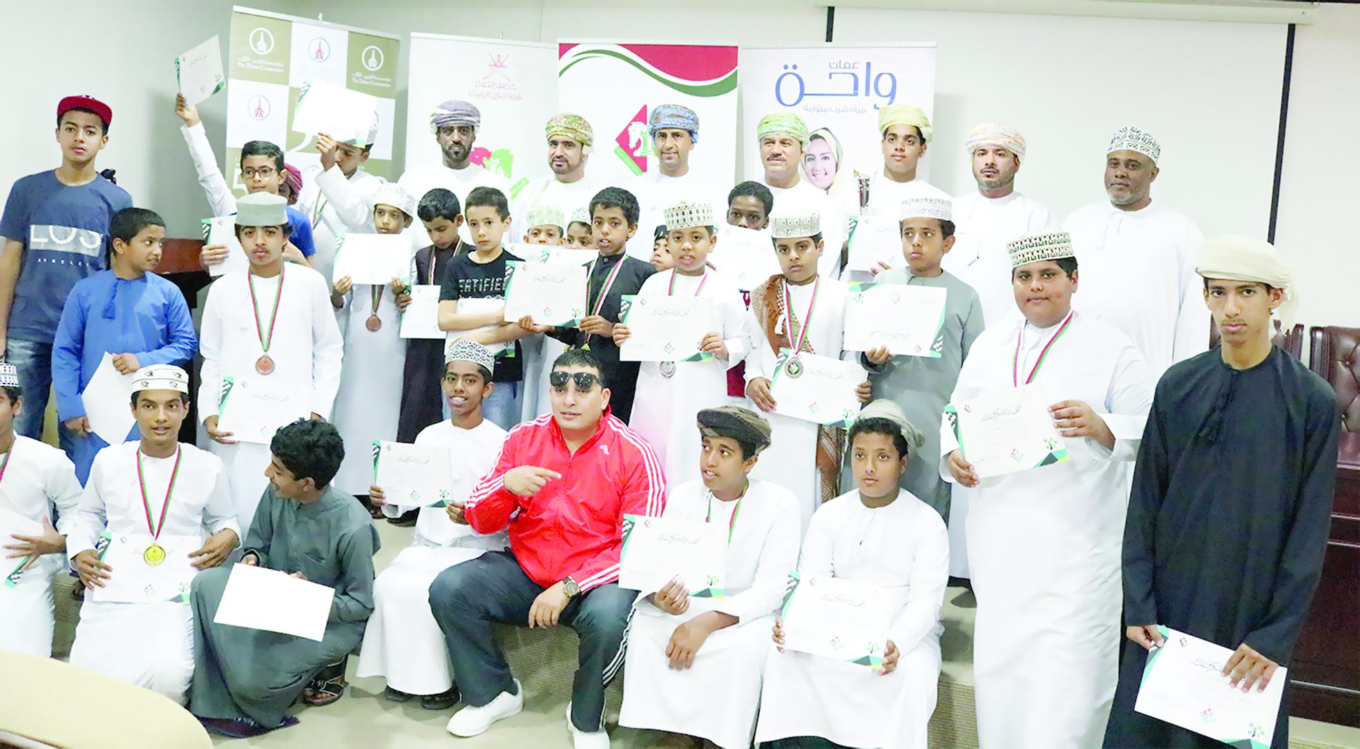 ثلاث فئات تخللها المعسكر التدريبي لبطولة مراكز الزبير للشطرنج في ظفار