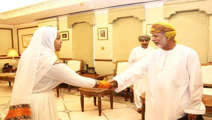 Bin Alawi accepts credentials of Ethiopian ambassador