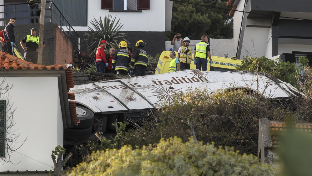29 tourists dead in bus crash in Madeira