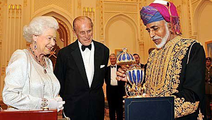 His Majesty sends greetings to Queen Elizabeth II