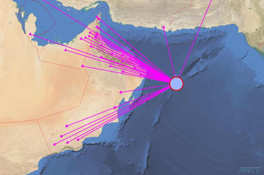 زلزال في بحر العرب ولا مخاطر من أمواج تسونامي
