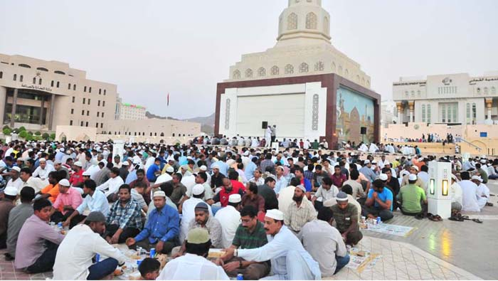 Hyderabadi community Iftar at Ruwi Clock Tower in Muscat