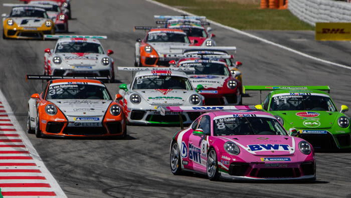 Oman's Al Zubair finishes 7th in opening Porsche Super Cup race