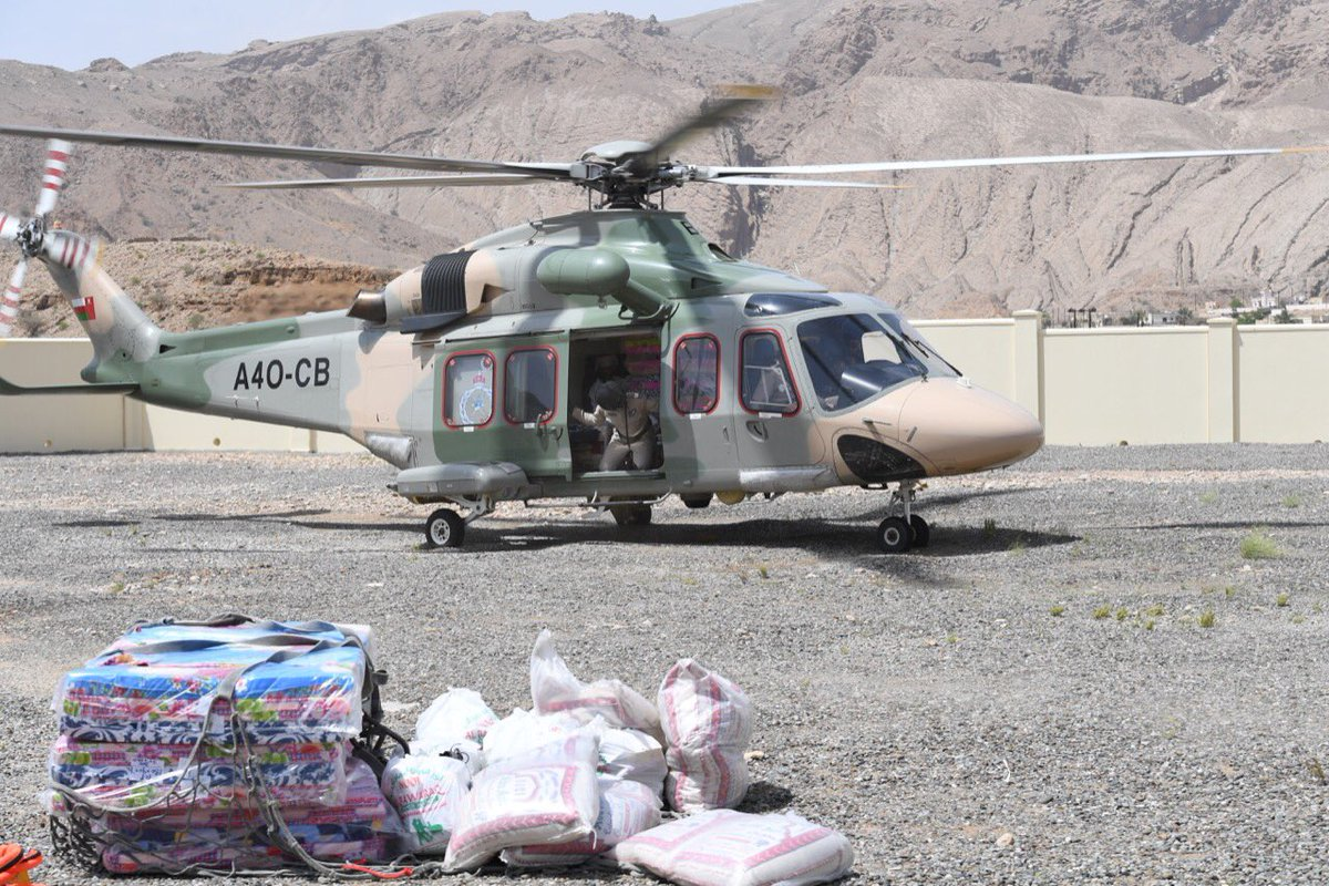 Royal Oman Police airlifts emergency supplies