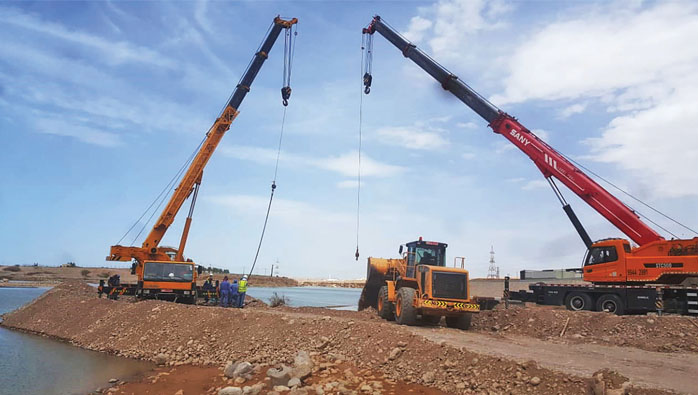 Work on to fully restore main water supply pipelines in Sharqiyah