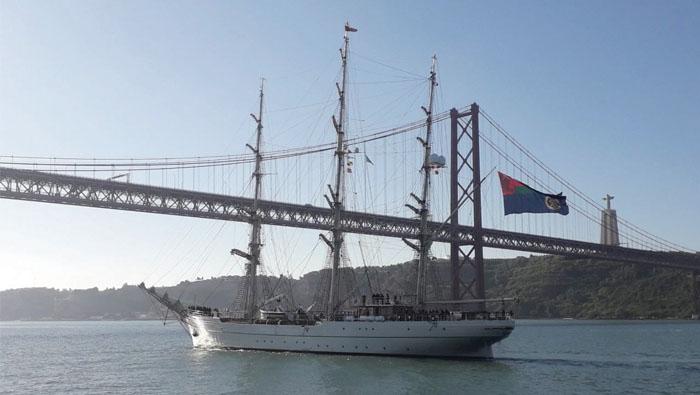 Shabab Oman II anchors in Lisbon, Rouen next