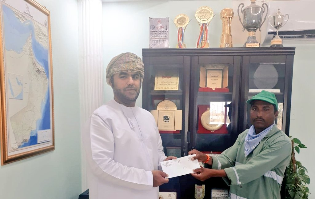 Dhank municipality honours workers