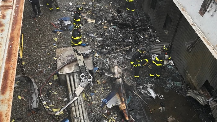 Helicopter crash leaves one dead in Manhattan