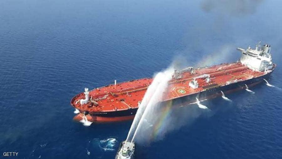 أمريكا تتهم إيران بالوقوف وراء حادث ناقلتي النفط في بحر عمان.. وطهران تنفي