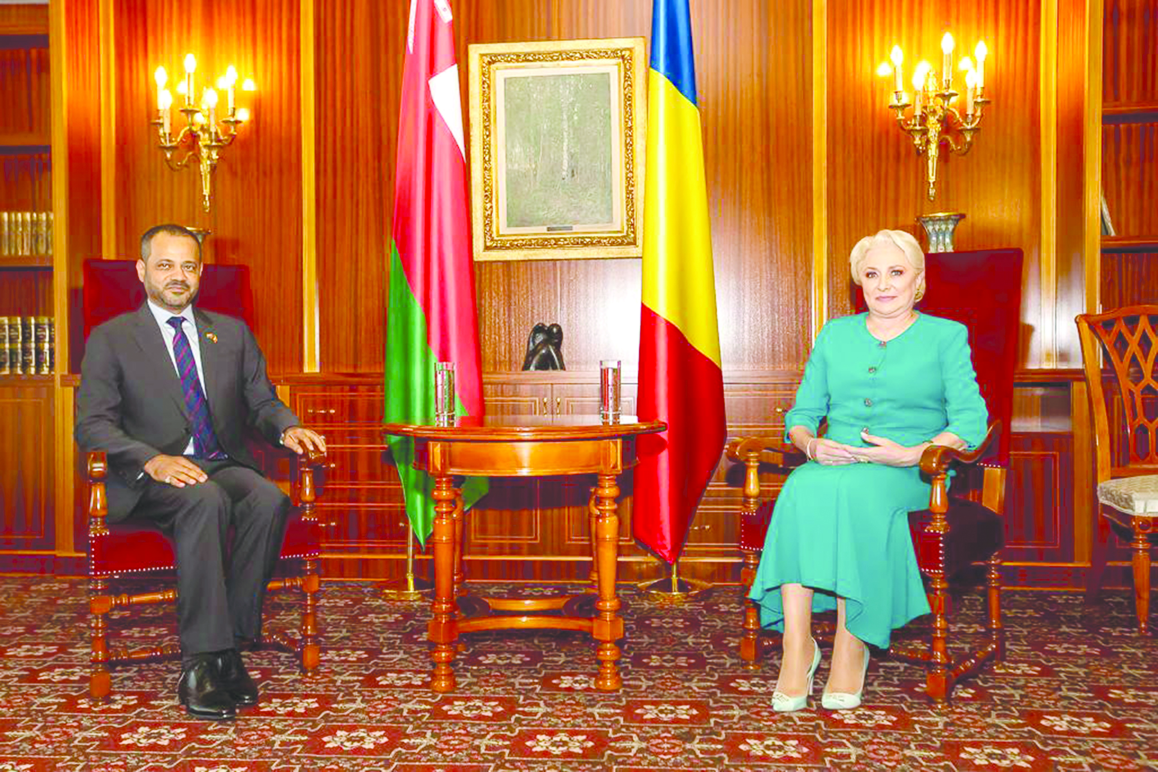 أصدرا بيانا مشتركا بمرور 45 عاما على العلاقات بين البلدين اتفاق عماني روماني على التشاور السياسي المستمر