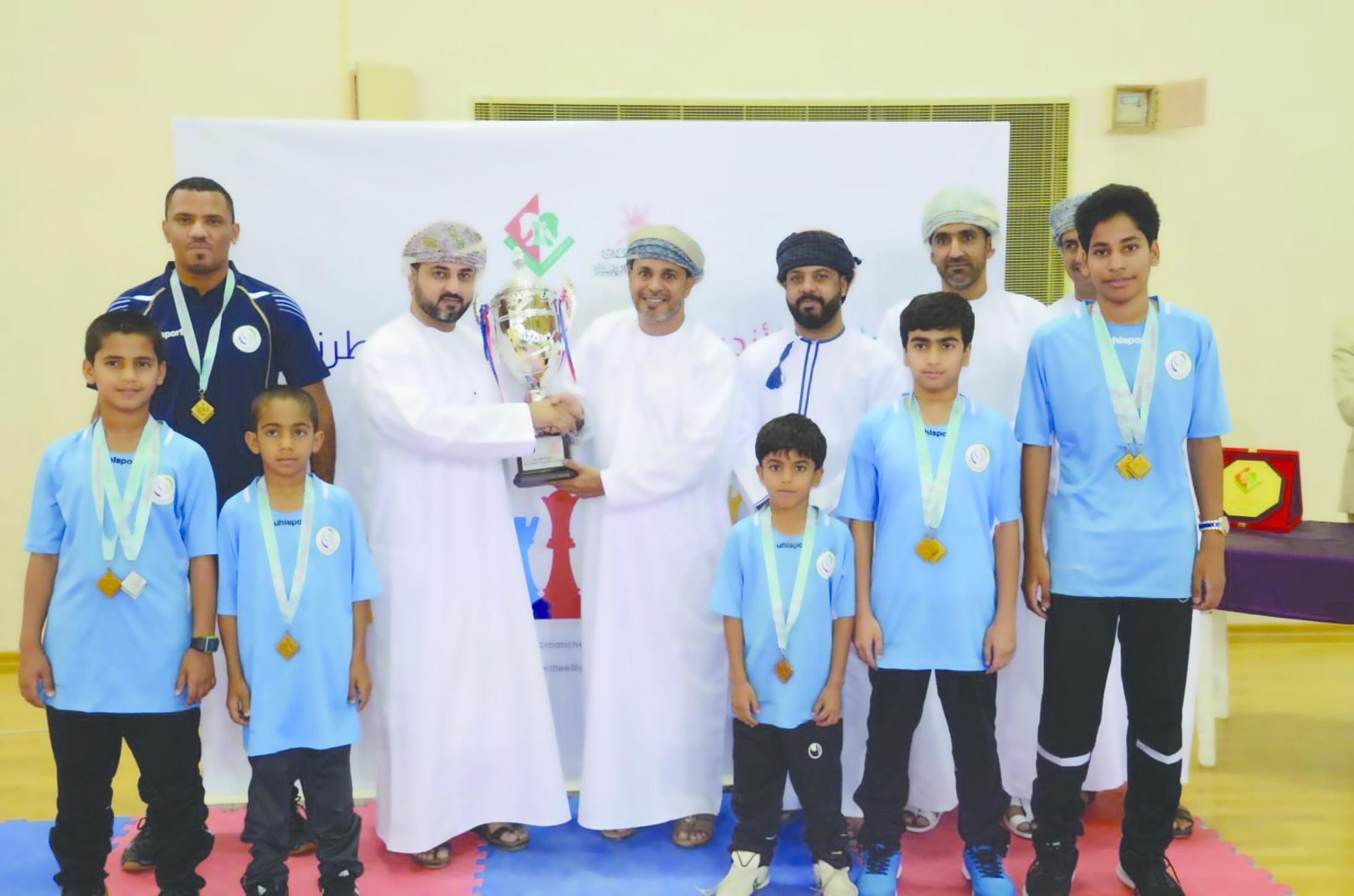 أهلي سداب يحقق كأس  الفئات العمرية للشطرنج