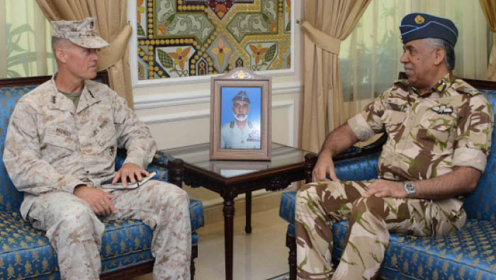 RAFO commander receives top US military official