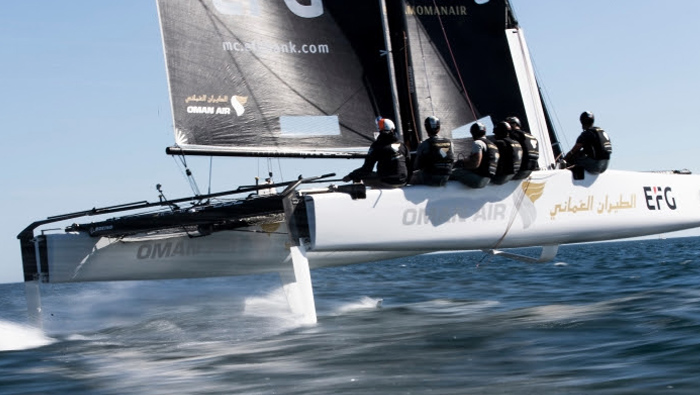 Team Oman Air lead the fleet at GC32 World Championships in Portugal