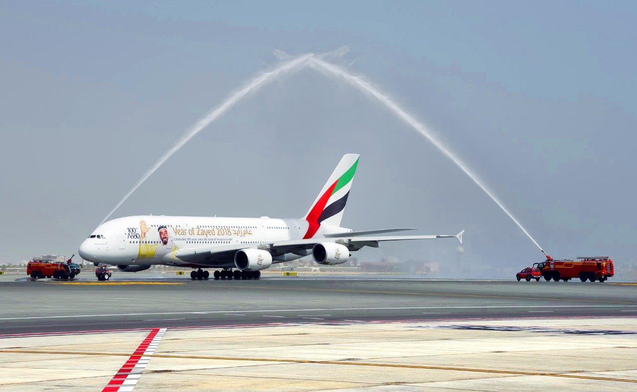 مطار مسقط يستقبل أول رحلتينيوميــا للطائــرة الإمـاراتية 380 A