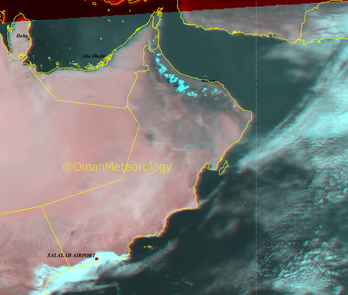 Heavy rains are currently falling over this part of Oman