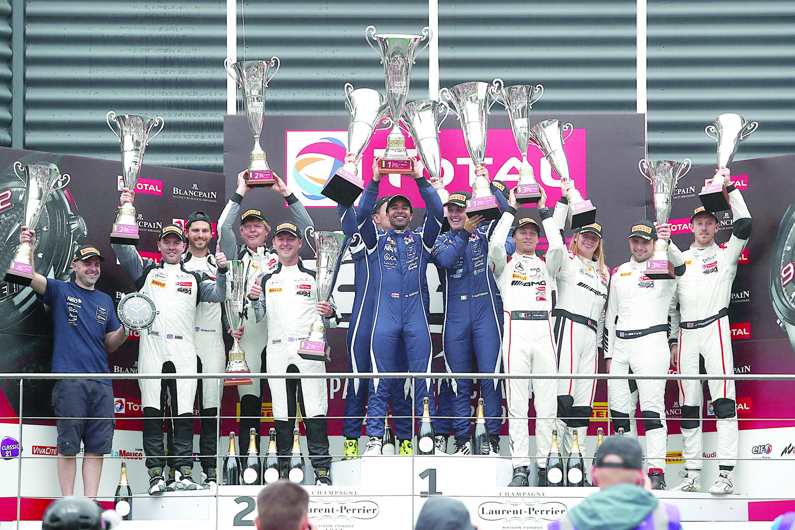 """عمان لسباقات السيارات أولا في """" فئة برو -أم"""""""