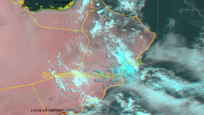 Rainfall over Oman to continue
