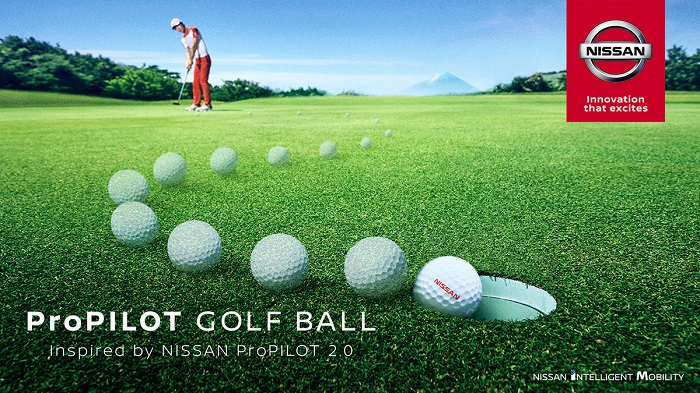 New golf ball from Nissan will take pre-planned routes in-flight to help golfers