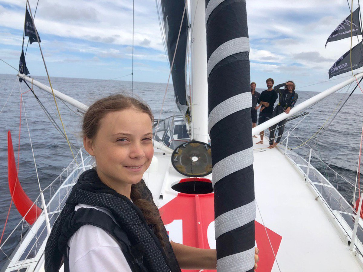 Teen climate activist sails to NYC to attend UN summit on climate change