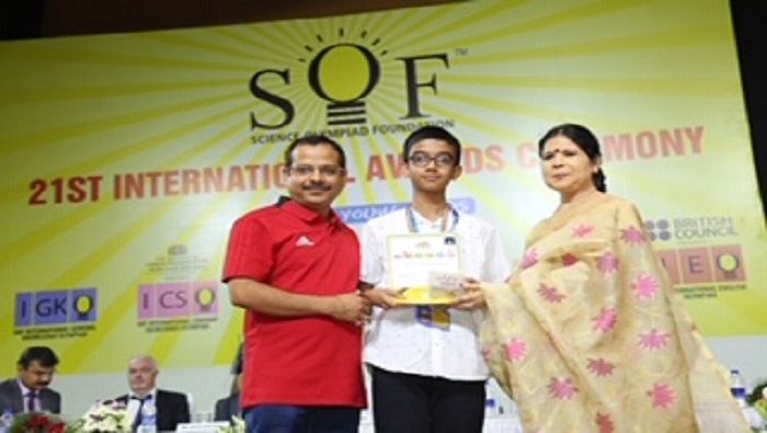 Indian student ranks second at Science Olympiad