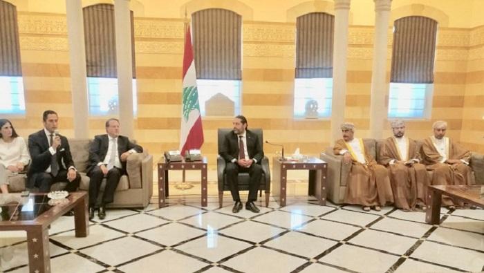 Omani businessmen meet Lebanese PM Hariri