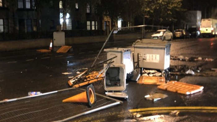 Riot police deployed as protests in Scotland turn violent