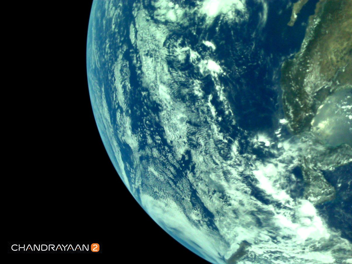 India's mission to the moon sends its first images of Earth