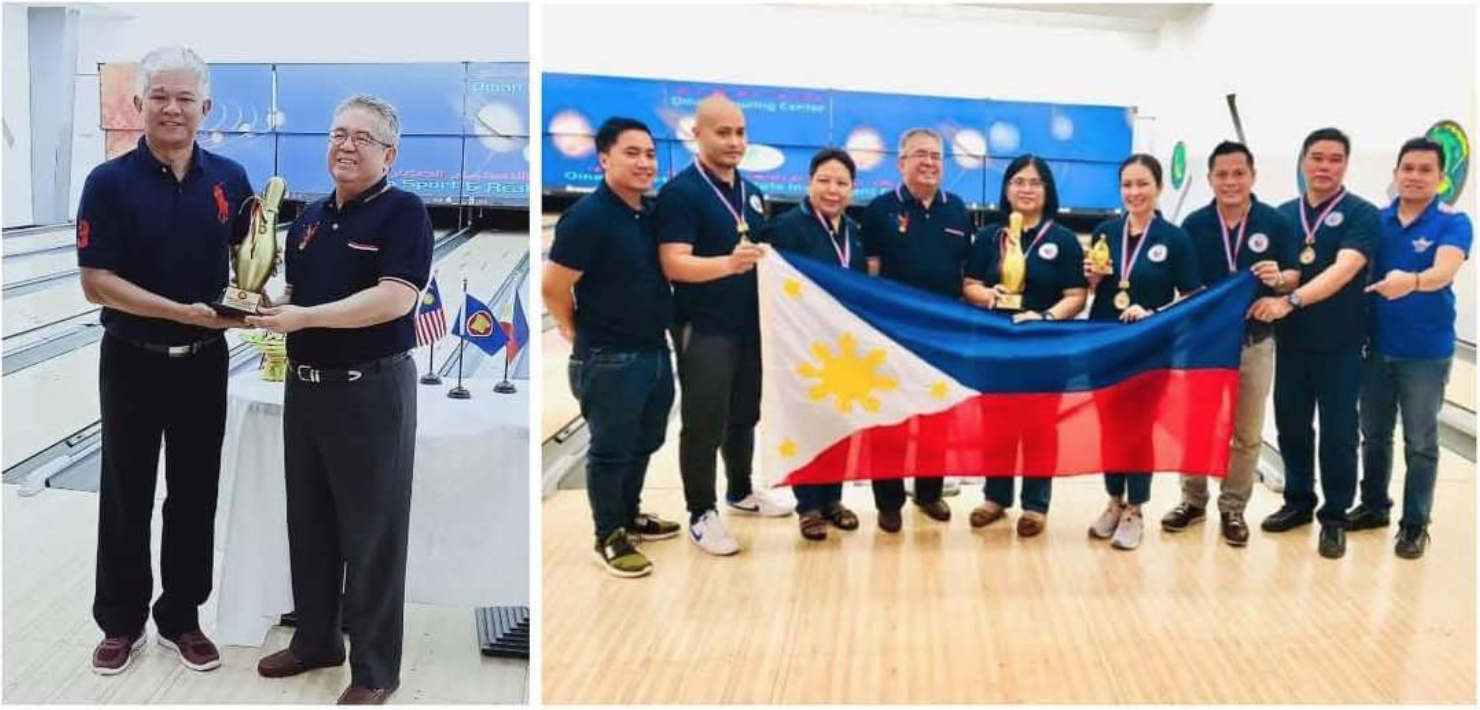 Philippine Embassy Team successfully defend ACM bowling tourney title
