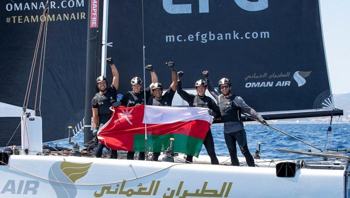 Team Oman Air celebrates winning performance at Spain