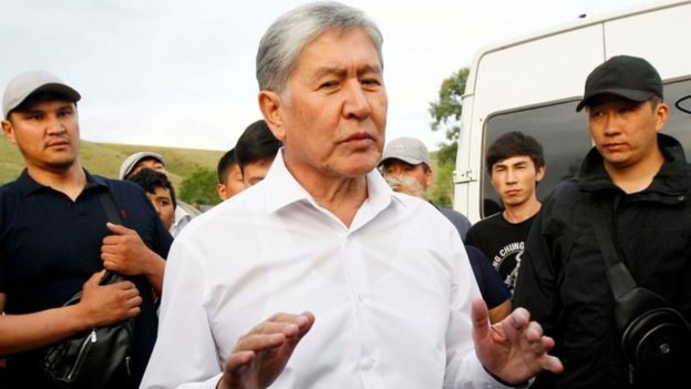 Former Kyrgyzstan Prez in standoff with local security forces