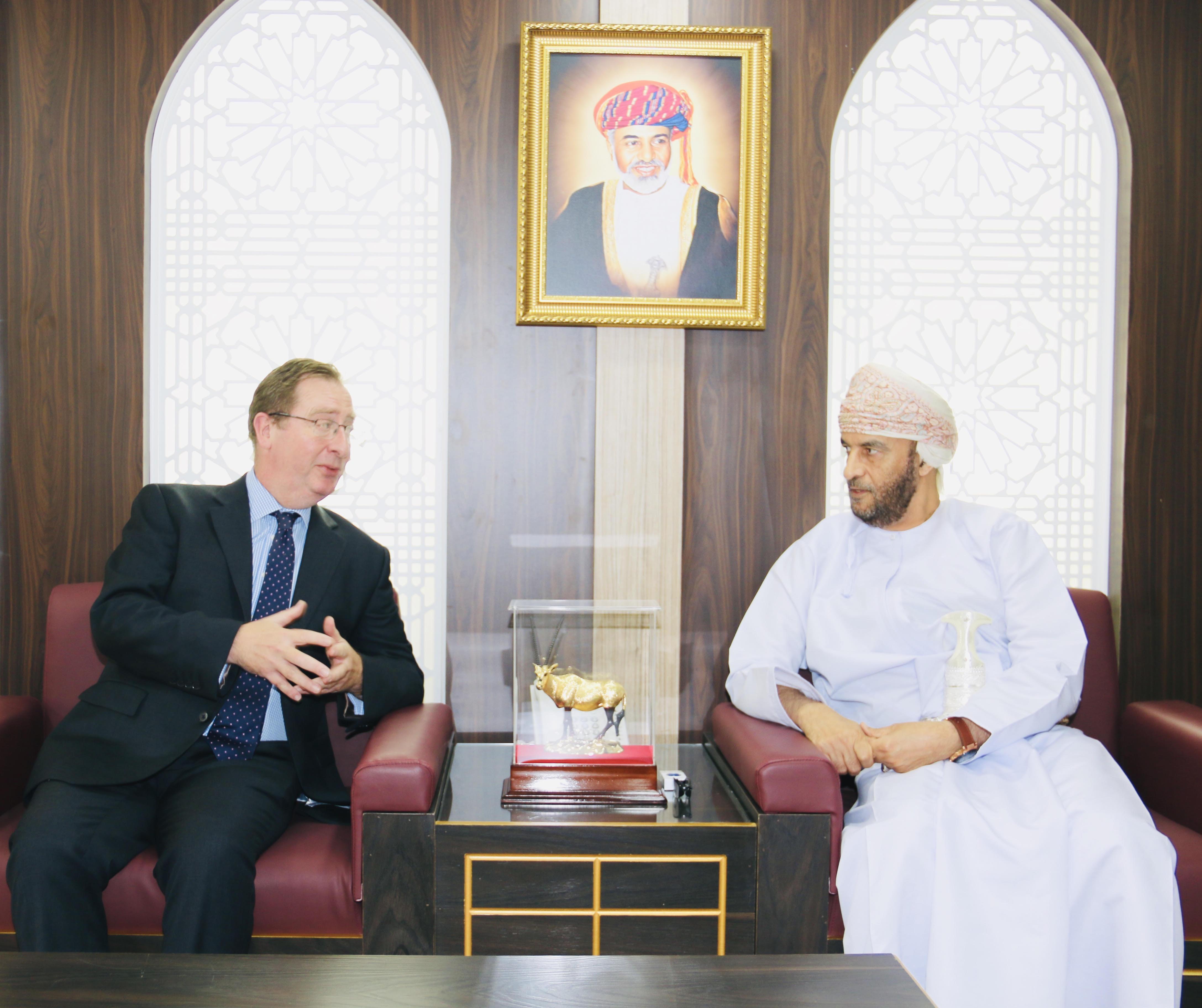 Oman Human Rights Commission Chairman meets British Ambassador