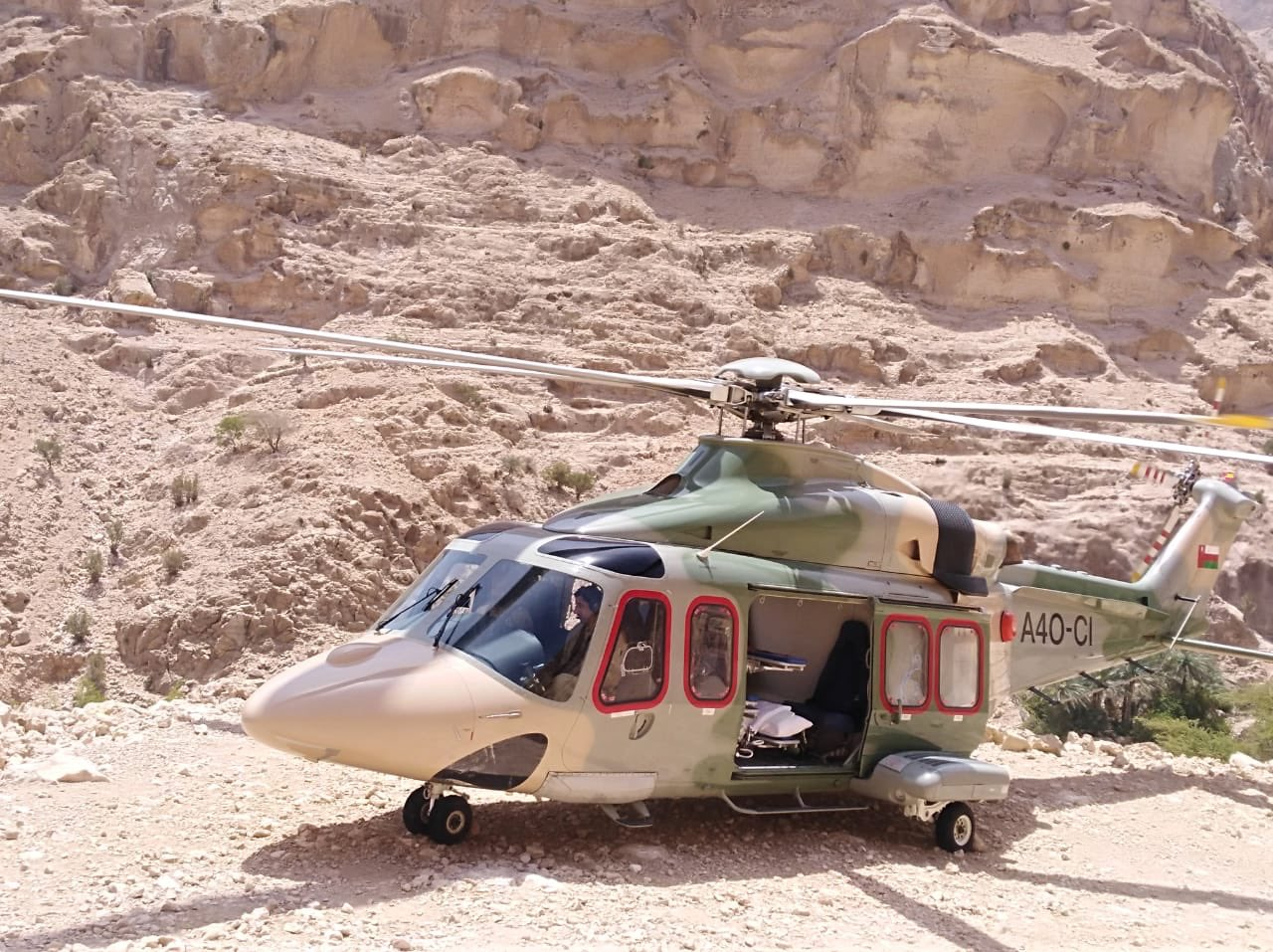 Royal Oman Police airlifts patient from mountain