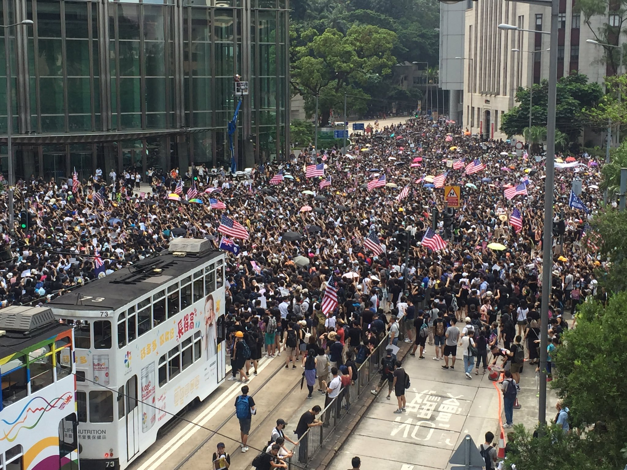 Violent riots break out as pro-democracy protests continue in Hong Kong
