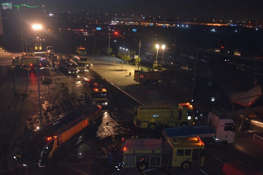 Fire at train station in Saudi Arabia
