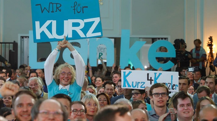 Exit polls suggest victory for Sebastian Kurz in Austrian election