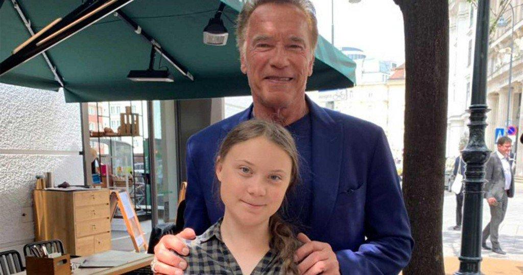 Arnold Schwarzenegger loans Greta Thunberg electric car to travel across US