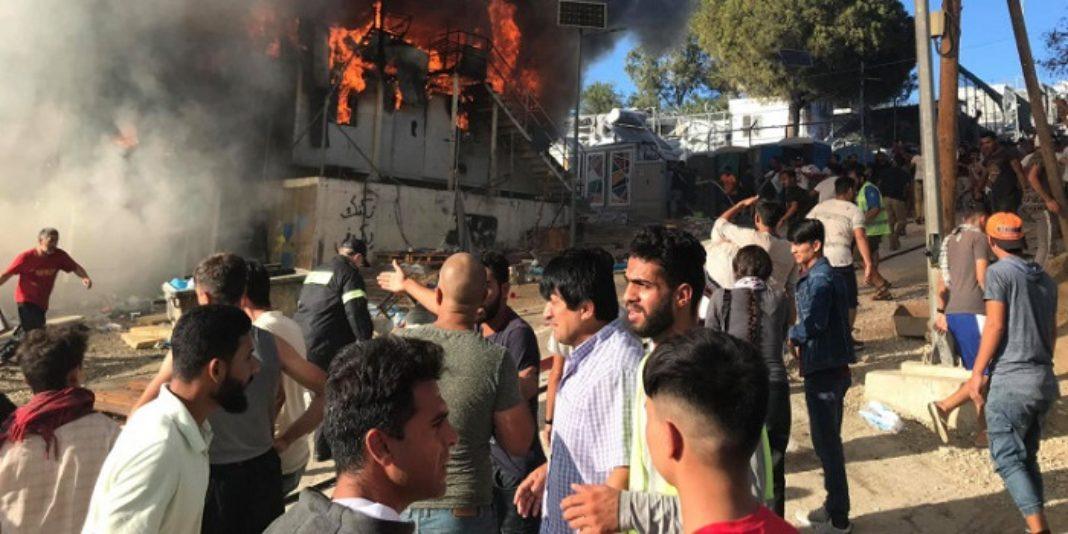 Riots break out Greek refugee camp after fatal fire