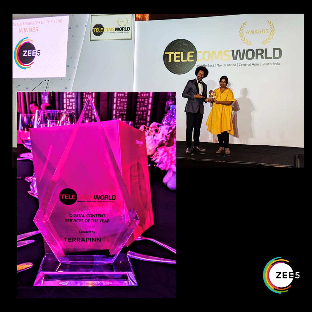 ZEE5 Global wins 'Digital Content Service of The Year' at Telecoms World Middle East Awards