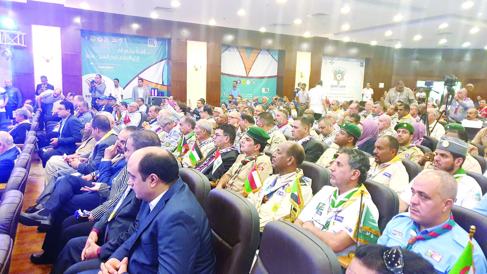 بمشاركة السلطنة و18 دولة عربية أفتتاح المؤتمر الكشفي العربي