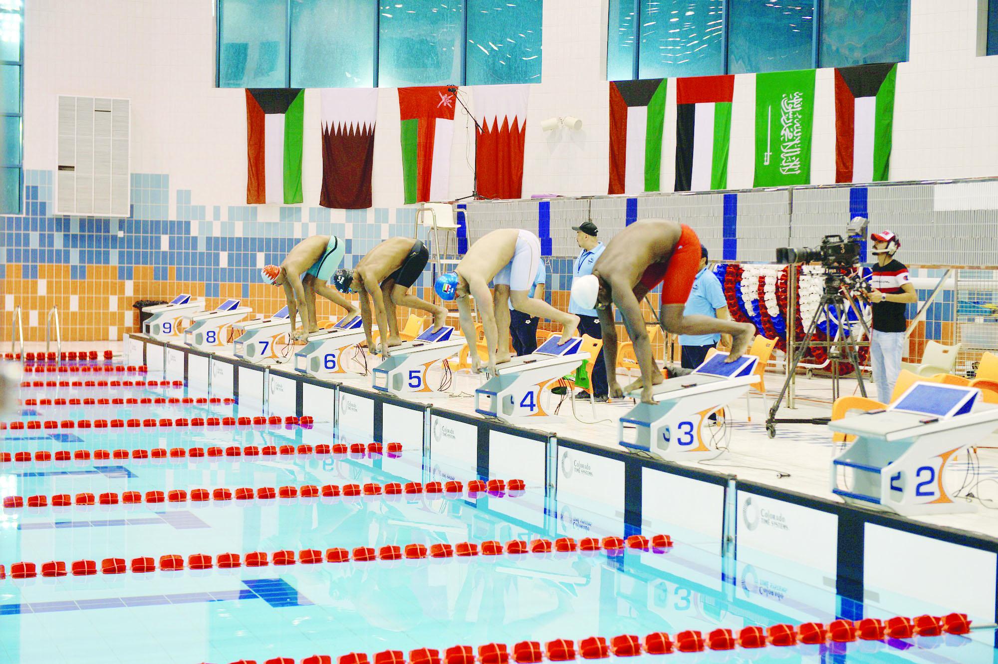 حصيلتنا ذهبية وثلاث فضيات وبرونزيتين في فئتي العموم وعشر سنوات في بطولة الألعاب المائية