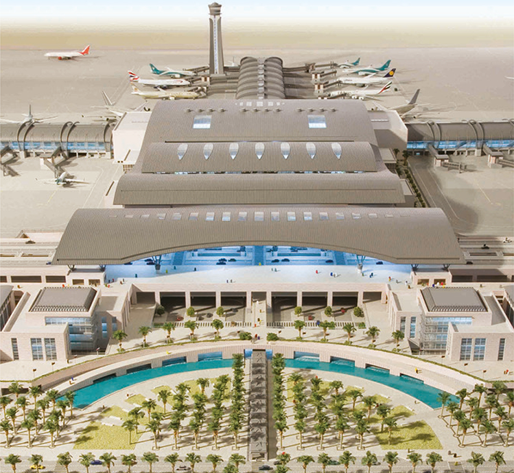 1.3 مليون مسافر بمطار مسقط  الدولي في يونيو الماضي