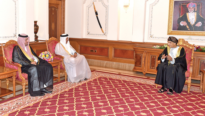 Sayyid Fahd receives heads of delegation