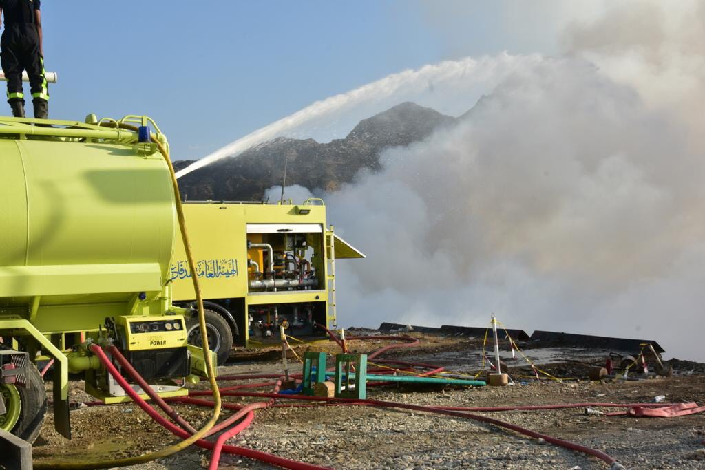 PACDA firefighters rush to douse landfill fire in Oman