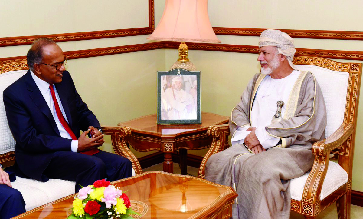 Yousef bin Alawi receives Singapore's minister
